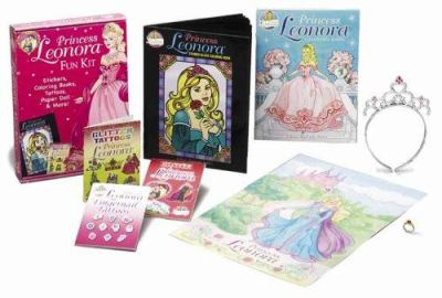 Princess Leonora Fun Kit With Paper Doll And 2 Coloring Books Stickers 11x17