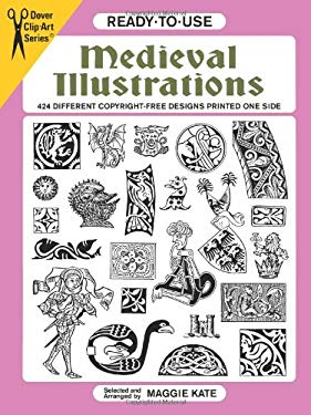 Ready-To-Use Medieval Illustrations: 424 Different Copyright-Free Designs Printed One Side 9780486404714