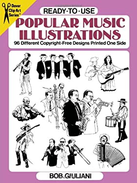 Ready-To-Use Popular Music Illustrations: 96 Different Copyright-Free Designs Printed One Side 9780486278209