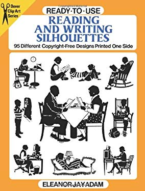 Ready-To-Use Reading and Writing Silhouettes: 95 Different Copyright-Free Designs Printed One Side 9780486281834