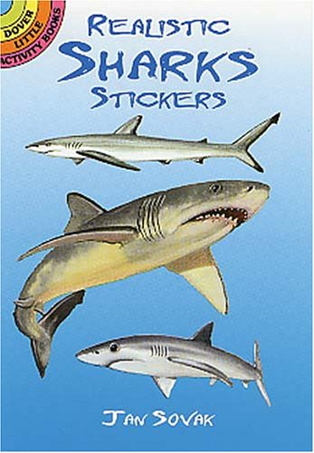 Realistic Sharks Stickers 9780486416243
