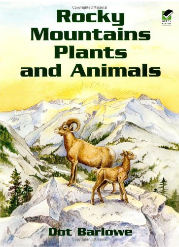Rocky Mountain Plants and Animals Coloring Book