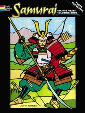 Samurai Stained Glass Coloring Book 1605332