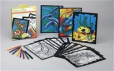Sea Life Stained Glass Coloring Kit [With 24 Vellum Style Sheets and Instruction SheetWith 8 Markers] 9780486460727