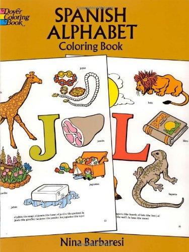 Spanish Alphabet Coloring Book 9780486272498