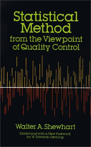 Statistical Method from the Viewpoint of Quality Control 9780486652320