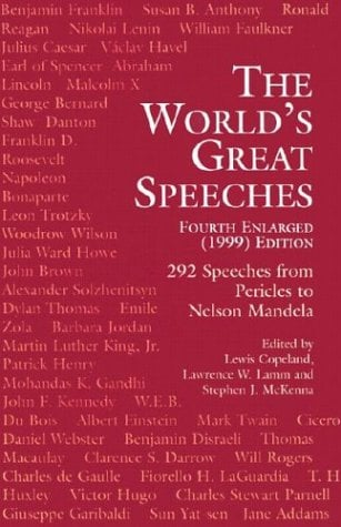 The World's Great Speeches: Fourth Enlarged (1999) Edition 9780486409030