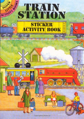 Train Station Sticker Activity Book 9780486405124