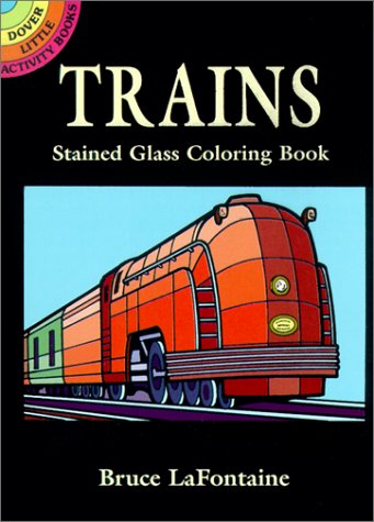 Trains Stained Glass Coloring Book 9780486409726