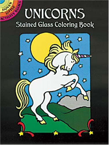 Unicorns Stained Glass Coloring Book 9780486409702