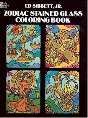 Zodiac Stained Glass Coloring Book 9780486243504