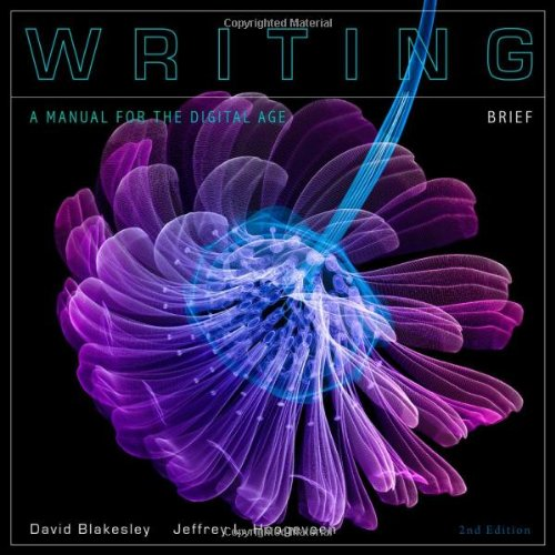 Writing: A Manual for the Digital Age 9780495833376