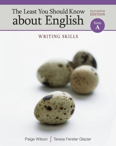 The Least You Should Know about English, Form A: Writing Skills 9780495906339