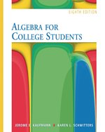 Algebra for College Students Student Solutions Manual 9780495105152