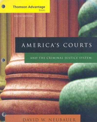 America's Courts and the Criminal Justice System 9780495505792