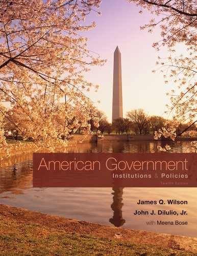 American Government: Institutions & Policies 9780495802815