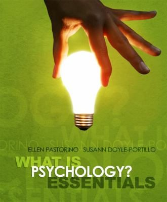 Cengage Advantage Books: What Is Psychology? Essentials 9780495603986