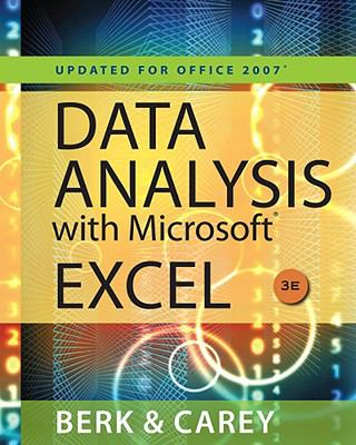 Data Analysis with Microsoft Excel: Updated for Office 2007 9780495391784
