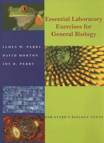 Essentials Laboratory Exercises for General Biology: For Starr's Biology Texts