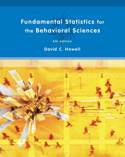 Fundamental Statistics for the Behavioral Sciences 9780495099000