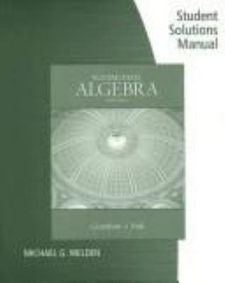 Gustafson and Frisk's Intermediate Algebra: Student Solutions Manual 9780495117988