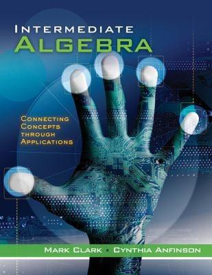 Intermediate Algebra: Concepts Through Applications, Class Test Volume 2 9780495828433