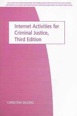 Internet Activities for Criminal Justice 9780495104421