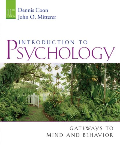 Introduction to Psychology: Gateways to Mind and Behavior [With Concept Booklet] 9780495091554