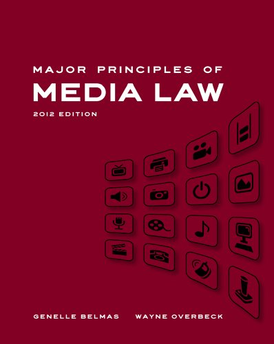 Major Principles of Media Law 9780495901952