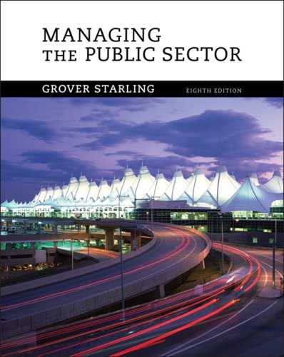 Managing the Public Sector 9780495189954