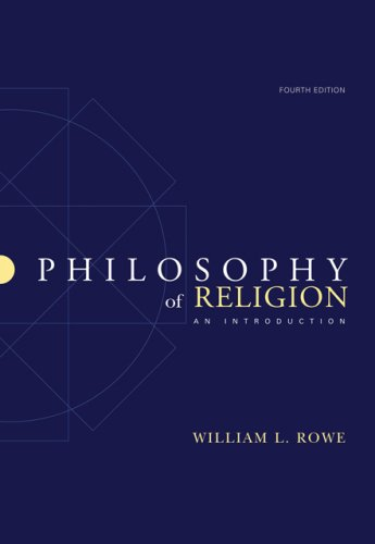 Philosophy of Religion: An Introduction 9780495007258