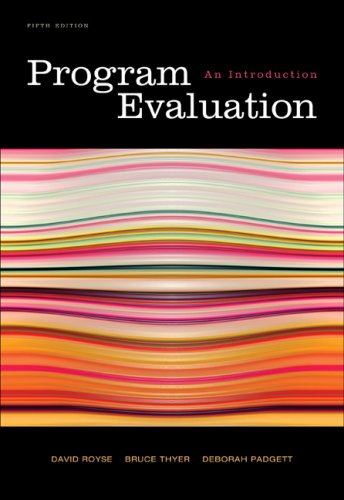 Program Evaluation: An Introduction 9780495601661