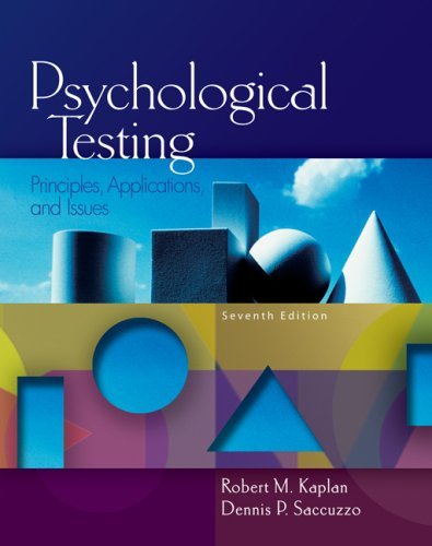 Psychological Testing: Principles, Applications, and Issues 9780495095552