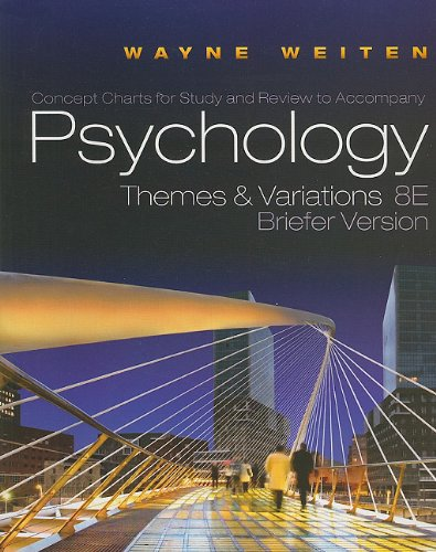 Psychology, Concept Charts for Study and Review: Themes and Variations, Briefer Version 9780495811343