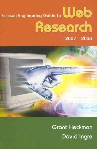 Thompson Engineering Guide to Web Research 9780495082606
