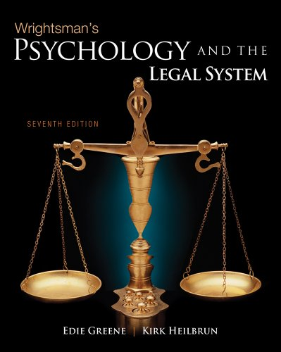 Wrightsman's Psychology and the Legal System 9780495813019