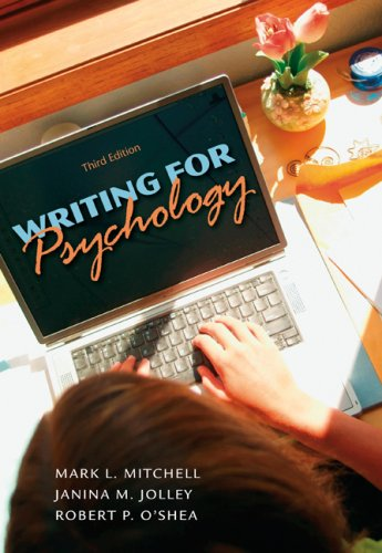 Writing for Psychology 9780495597810