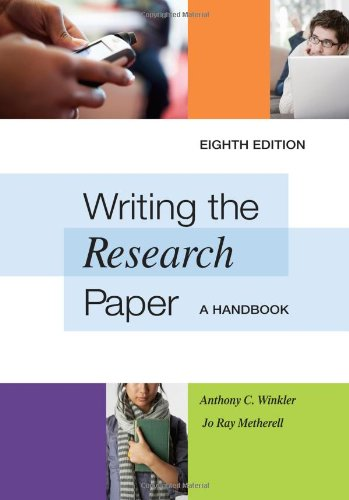 Writing the Research Paper: A Handbook 9780495799641