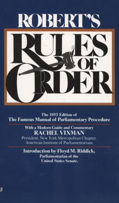 Robert's Rules of Order 9780515090321