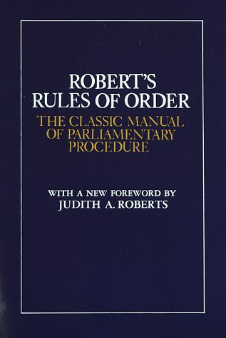 Robert's Rules of Order: The Classic Manual of Parliamentary Procedure 9780517259207