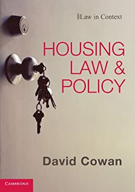 Housing Law and Policy 9780521137195