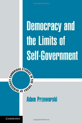 Democracy and the Limits of Self-Government 9780521140119
