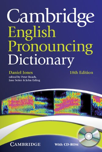Cambridge English Pronouncing Dictionary [With CDROM] 9780521152556