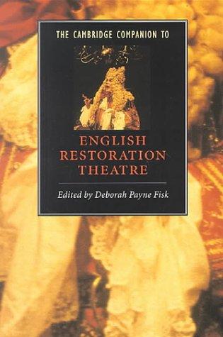 The Cambridge Companion to English Restoration Theatre 9780521588126