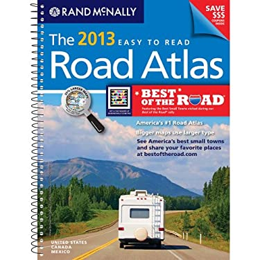 USA, Road Atlas, Midsize Easy To Read, Spiral Bound 2013 (Rand Mcnally Road Atlas Deluxe Midsize) 9780528006333