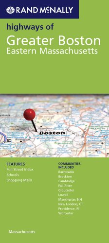 Rand McNally Highways of Greater Boston: Eastern Massachusetts 9780528880841