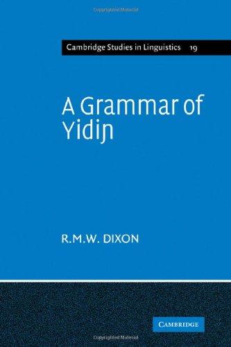 A Grammar of Yidin 9780521142427