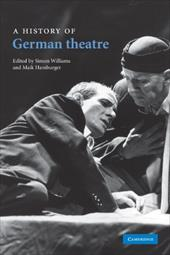 A History of German Theatre 11656905