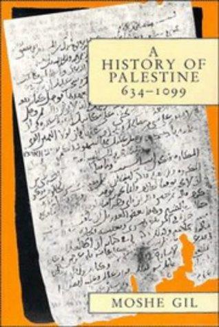 A History of Palestine, 634 1099