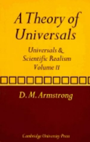 A Theory of Universals: Volume 2: Universals and Scientific Realism 9780521280327